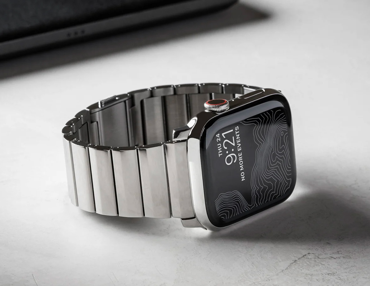 Freshen Up Your Apple Watch with Nomad's Stainless & Titanium Bands at werd.com