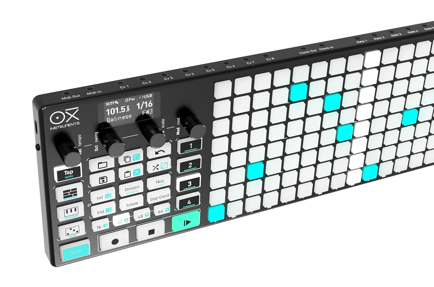 Create Your Own Soundtrack with the Wireless OXI ONE Sequencer at werd.com