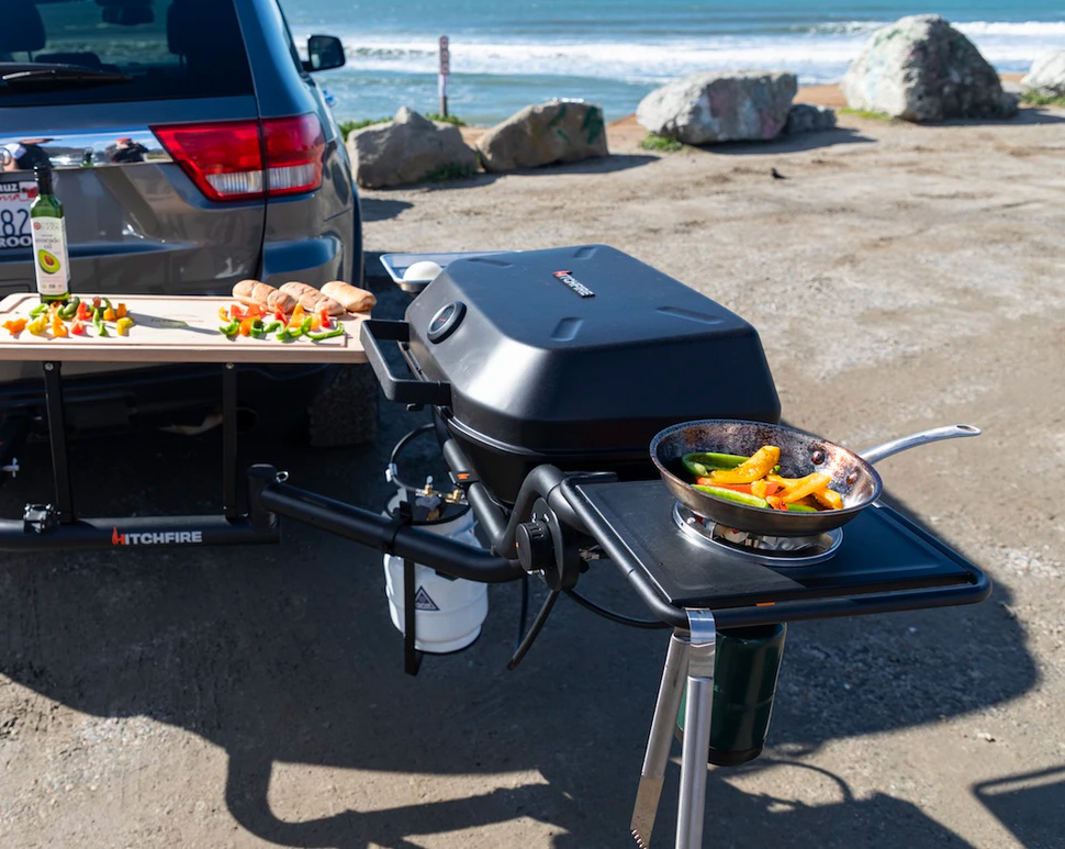 Cookout Anywhere with HitchFire's Ultimate Grilling Station at werd.com