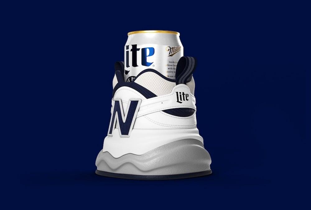 Perfect Fit: New Balance x Miller Lite Shoezie at werd.com