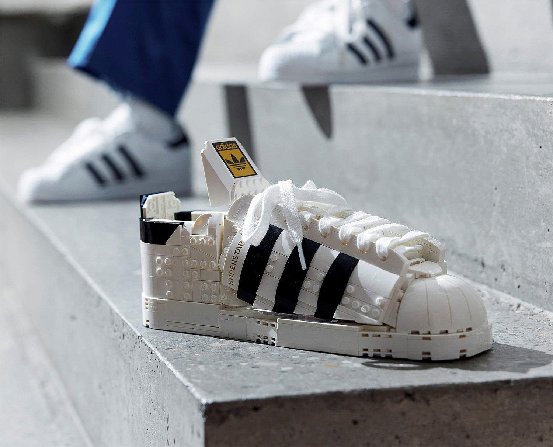 LEGO Laces a Classic Kick with adidas Originals Superstar Set at werd.com