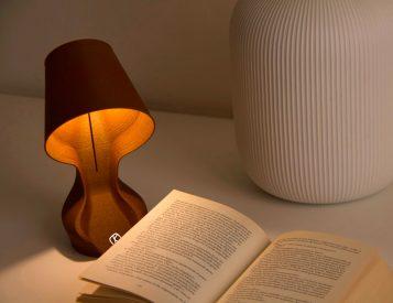 This Lamp is Made of Actual Orange Peels