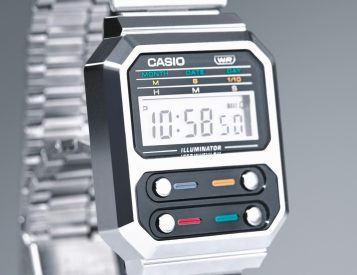 Casio Bends Time with Neo-Retro Metal G-Shock A100WE