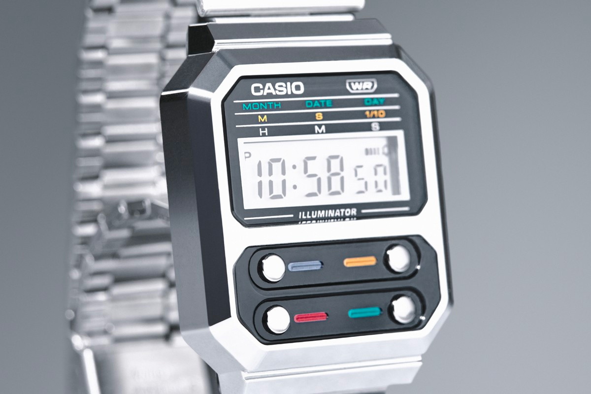 Casio Bends Time with Neo-Retro Metal G-Shock A100WE at werd.com