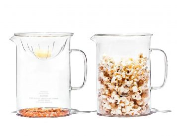 This Glass Popcorn Maker is Clearly Cool