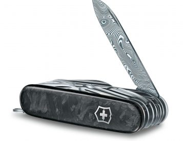 Victorinox Puts a Damascus Steel Blade in its Classic Swiss Champ