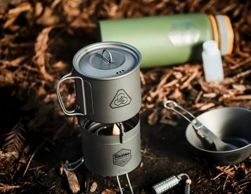 If it Burns, This Titanium Camp Stove Can Use it for Fuel