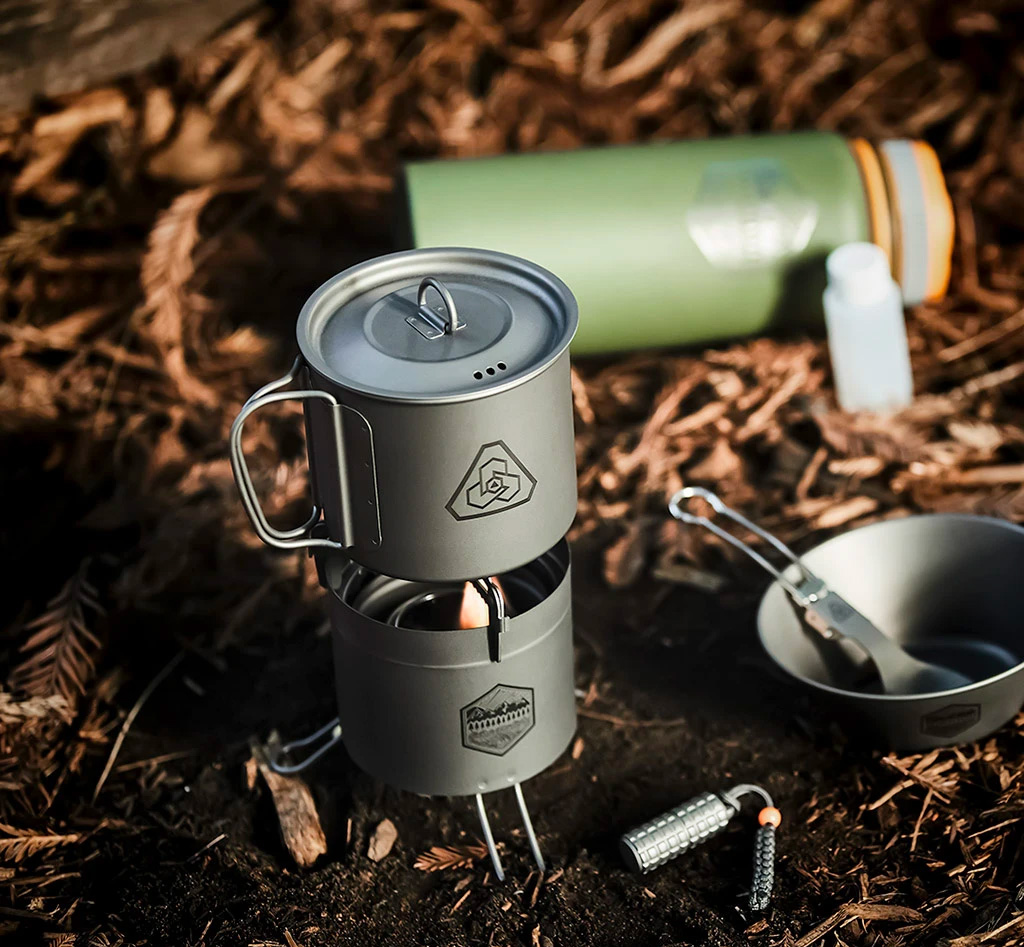 If it Burns, This Titanium Camp Stove Can Use it for Fuel at werd.com