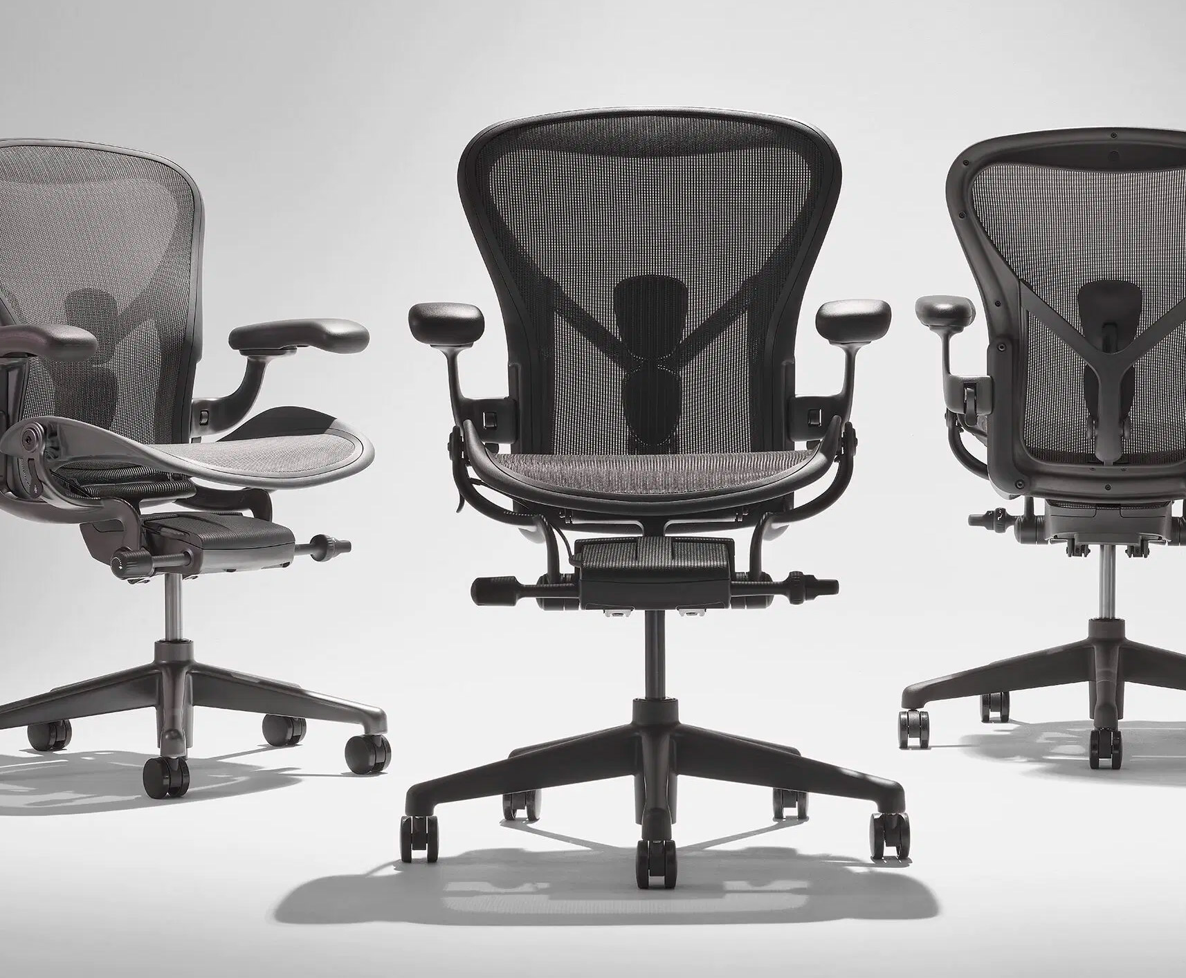 Herman Miller's Iconic Aeron Chair Now Made from Ocean Plastics at werd.com