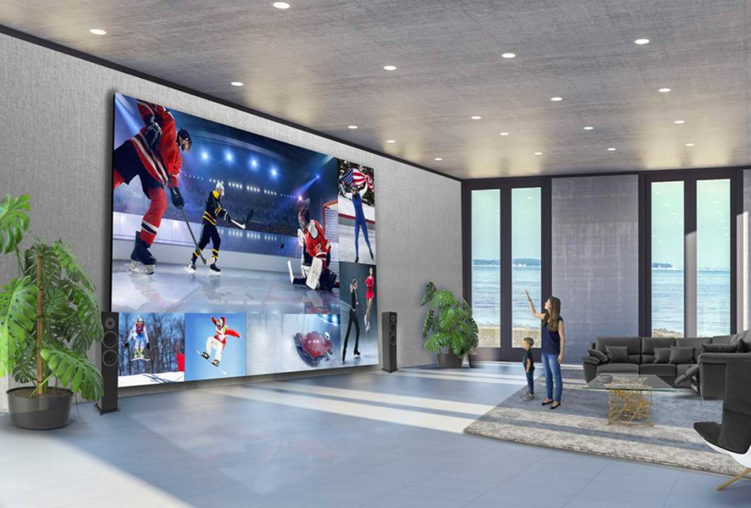 LG's DVLED Extreme Home Cinema Turns Whole Walls into TV Screens at werd.com