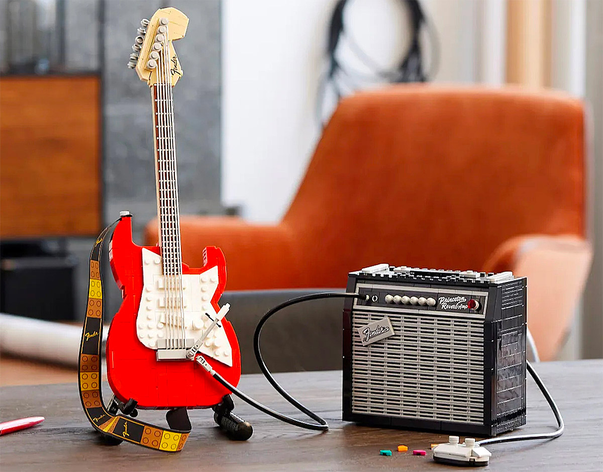 LEGO Turns It Up To Eleven with Fender Strat Set at werd.com