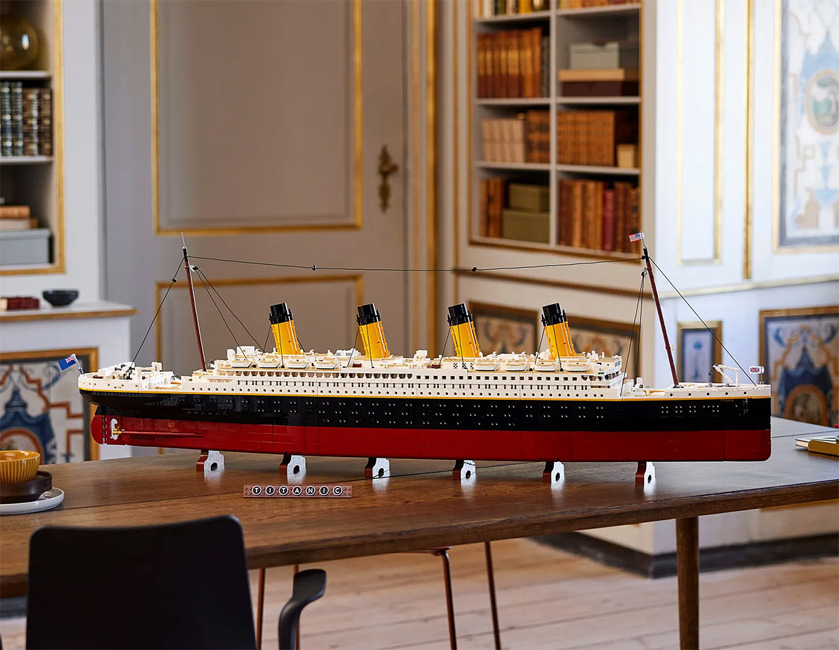 53-Inch Titanic Becomes LEGO's Largest Set Ever at werd.com