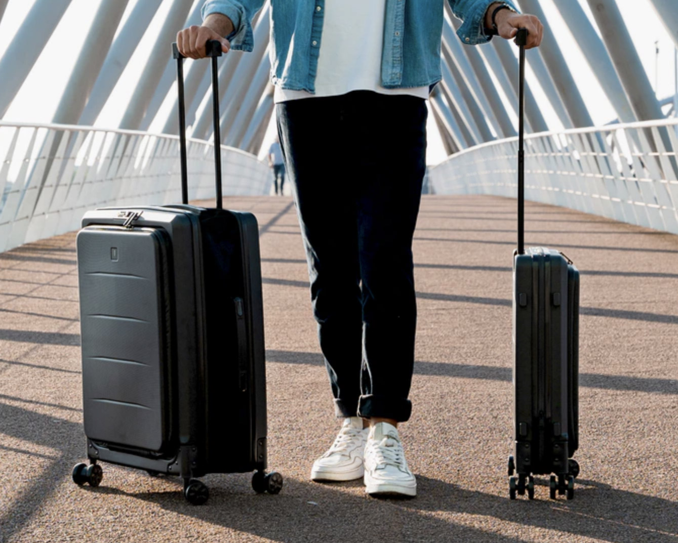 The Lito Suitcase Shrinks & Expands as Needed at werd.com