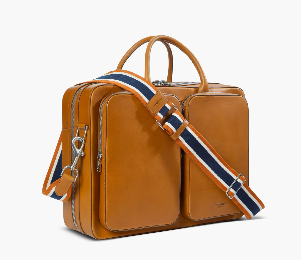 The Canfield Traveler Brief Looks Good in Leather at werd.com